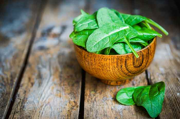 Spinach is very healthy