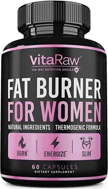 Vitaraw fat burner for women product bottle