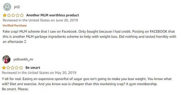 unhappy customer reviews