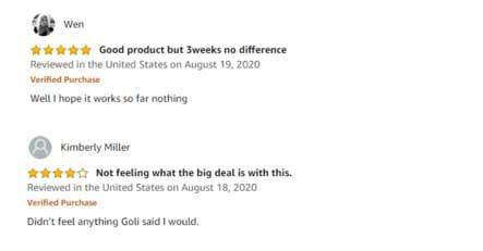 Goli Nutrition Apple Cider Vinegar Gummies Customer Reviews