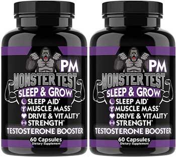 Monster Test Sleep and Grow supplement