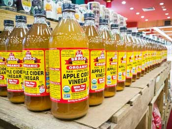 """My personal favorite is Bragg Organic Raw Unfiltered ACV with """"The Mother"""""""