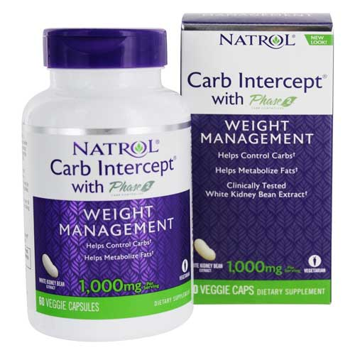 Carb Intercept With Phase 2 Weight Management - 120 Vegetable Capsule(s) Contains White Kidney Bean Extract